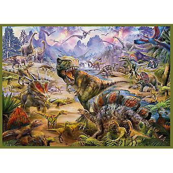 18 dinosaurer plakat Print af Jan Patrick