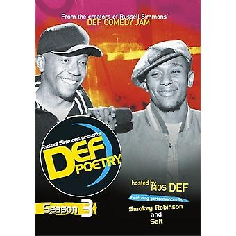 Russell Simmons Presents Def Poetry: Season 3 [DVD] USA import