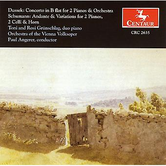 Dussek/Schumann - Dussek: Concerto for 2 Pianos; Schumann: Andante & Variations [CD] USA import