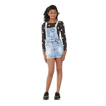 Light Wash Denim Dungaree Dress 8-16 Years Girl & Teen Bib overall skirt