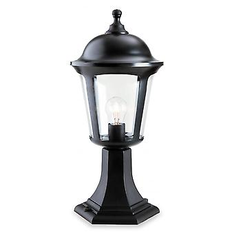 Firstlight Modern Black Outdoor Garden Pillar Top Lantern