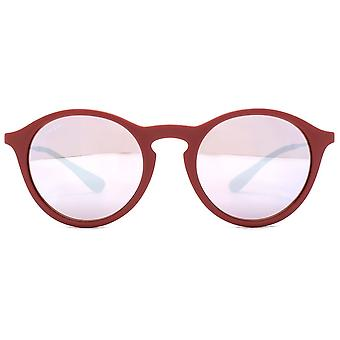 Ray-Ban Bordeaux Rotguss Pink/Silber Objektive Sonnenbrille RB4243-6264B5-49