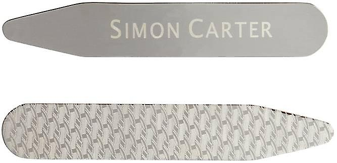 Simon Carter Etched Collar Stiffeners - Silver