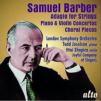 London Symphony Orchestra Tedd Joselson - Barber: Adagio för stråkar; Piano & Viol [CD] USA import