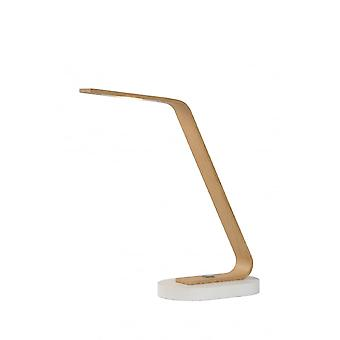 Lucide DANI Desk Lamp LED 5W 3000K Light Wood/Concreet