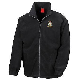 Wittering RAF Station broderad Logo - officiell Royal Air Force Full Zip Fleece