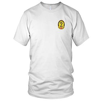 US Army - 2nd General Hospital Embroidered Patch - Ladies T Shirt
