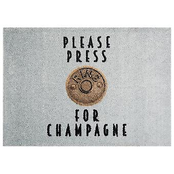 Washable mat rug press for Champagne grey 50 x 70 cm