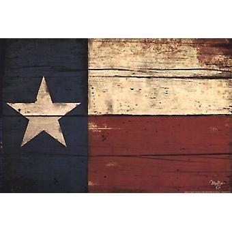 Texas vlag Poster Print by Mollie B (18 x 12)