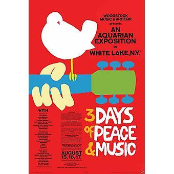 Woodstock - concierto cartel cartel imprimir Poster Print