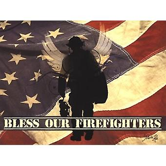 Bless Our Firefighters Poster Print by Marla Rae (16 x 12)