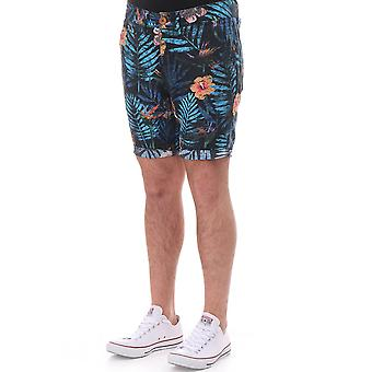 Pearly King Diffuse Floral Cotton Shorts