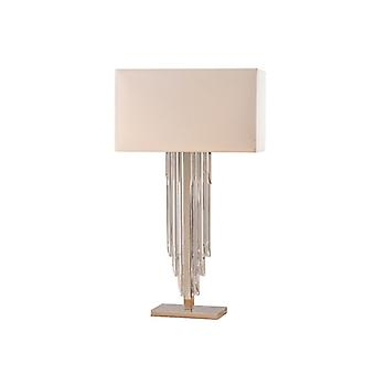 Crystal Cascade Table Lamp With Shade - Interiors 1900 63457