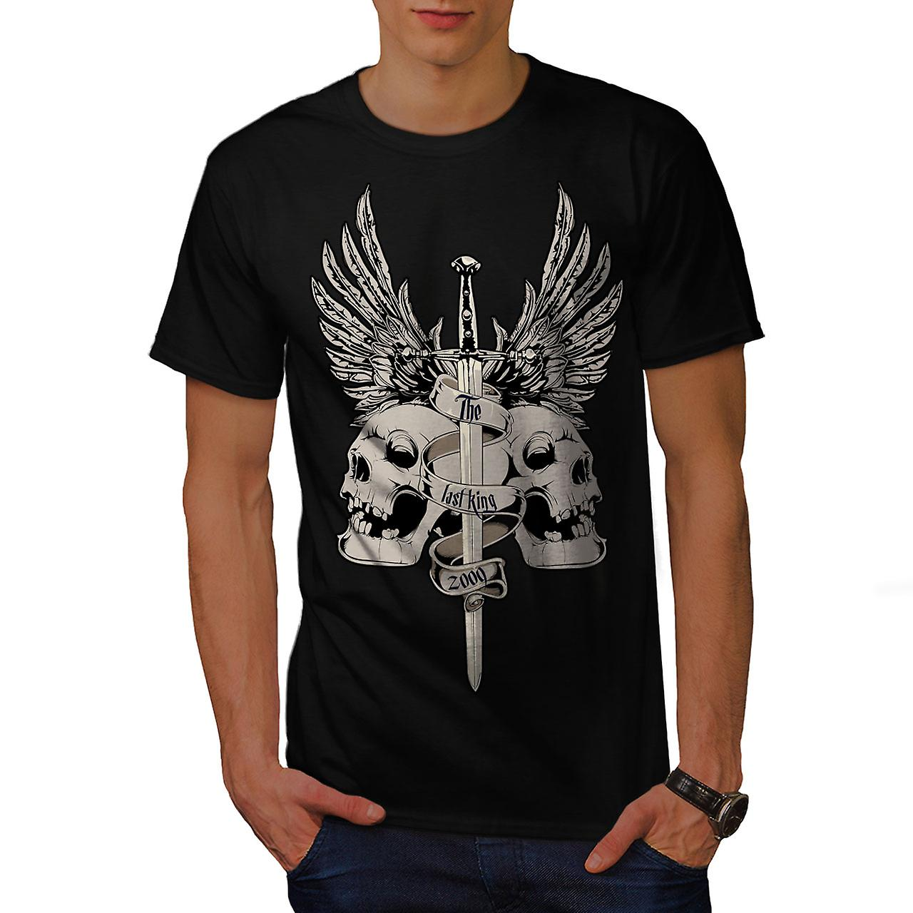 The Last King Death Skull Men Black T-shirt | Wellcoda