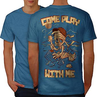 Come Play With Me Men Royal BlueT-shirt Back | Wellcoda
