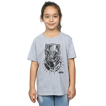 Marvel Girls Black Panther Spray Headshot T-Shirt