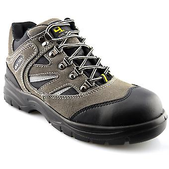 Mens Leather Industrial Safety Toe Midsole Hiker Work Boots Shoes