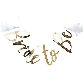 GOLD FOILED BRIDE TO BE BUNTING - I DO CREW