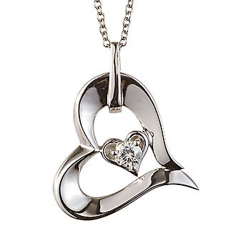 Forever Classic Round 3.25mm Moissanite Heart Necklace