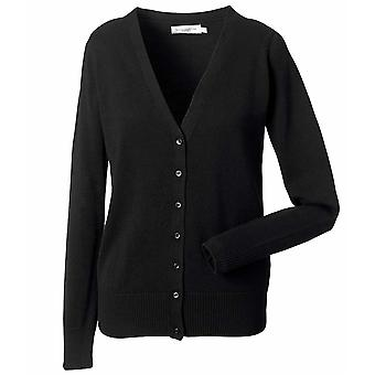 Russell Collection Damen V-Neck Strick Cardigan