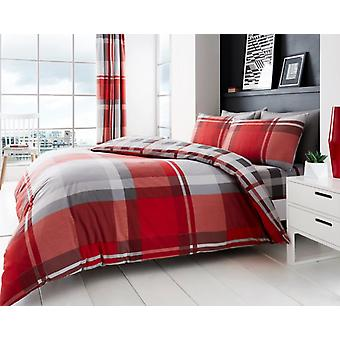 Waverly Check Duvet Quilt Cover Polycotton Printed Bedding Set