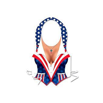 Chaleco patriótica USA mujer plástico