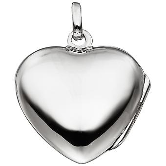 Heart Medallion Locket heart 925 sterling silver rhodium plated 3 cubic zirconia pendant silver heart pendant