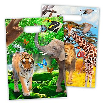 Party bags bags bag Safari kids party birthday 8 pieces