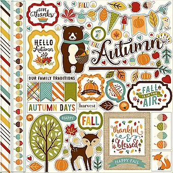 Fall Is In The Air Cardstock Stickers 12