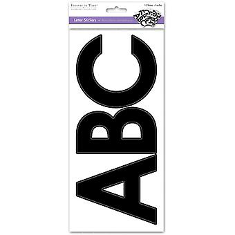 Multicraft Letters Medley Stickers-Large Caps Black