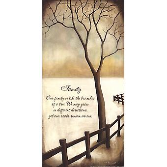 Impression Poster famille de Kendra Baird (9 x 18)