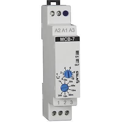 ENTES MCB-7 TDR monofonctionnel 24 Vdc, 24 V AC, 230 V AC 1 PC (s) ATT. FX. PLAGE de temps  0,1 s - 30 h 1 inverseur