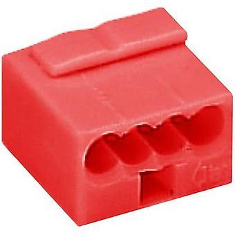 Kroonsteen rigide: -0,8 mm² aantal pins: 4 WAGO 1 PC('s) rood