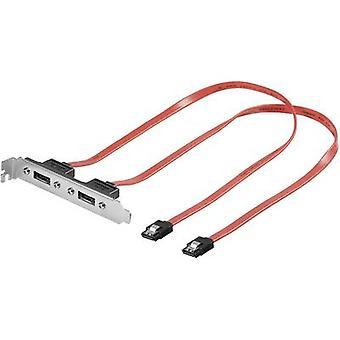 Goobay Hard drives Adapter [2x eSATA socket 7-pin - 2x SATA plug 7-pin] 0.50 m Red