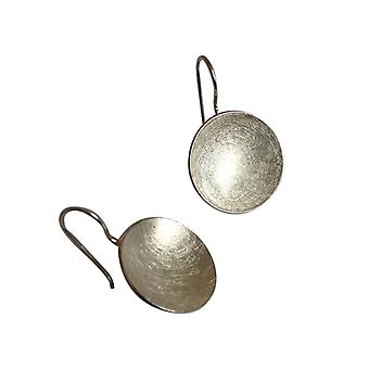 Earrings, 925 Silver shell earrings shell matte earrings silver disc