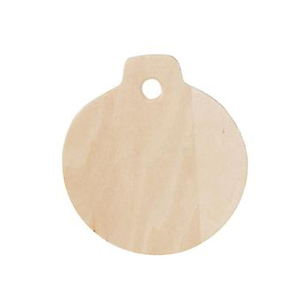 36 Wooden 8.25cm Bauble Shapes for Christmas Crafts