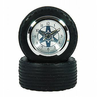 F1 Racing Car Tyre and Wheel Desk Clock
