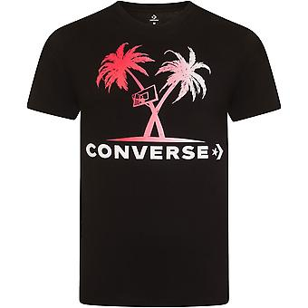 Converse Palm Trees And Hoops T-Shirt Black