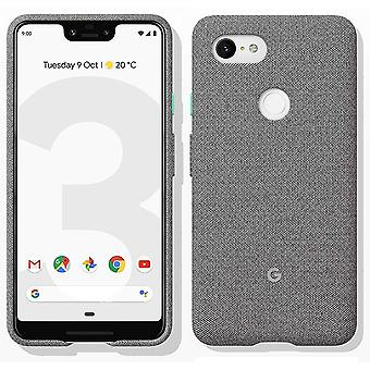 New Genuine Official Google Pixel 3 XL Fabric Case Cover GA00490 - Fog