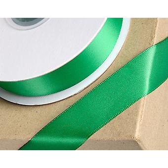 10mm Emerald Green Satin Ribbon for Crafts - 25m   Ribbons & Bows for Crafts