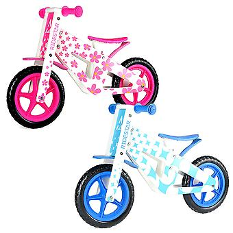 Wooden Balance Bike Kids Running Walking Lightweight Training Bikes Blue Pink