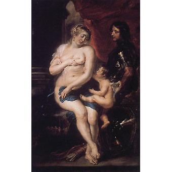Venus, Mars and Cupid, Peter Paul Rubens, 40x60cm with tray