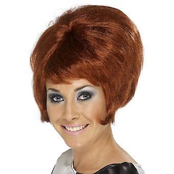 Breve parrucca Auburn Beehive, anni sessanta Beehive Wig, oscillante di 60