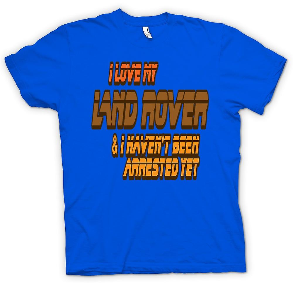 Mens T-shirt - I Love My Landrover