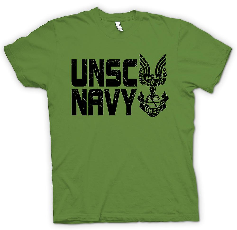Mens T-shirt - UNSC Navy Logo - Gamer