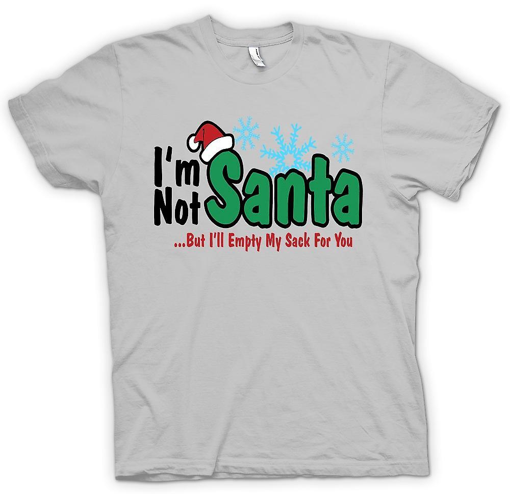 Mens T-shirt-Im nicht Santa aber ich werde mein Sack leer für Sie - lustig