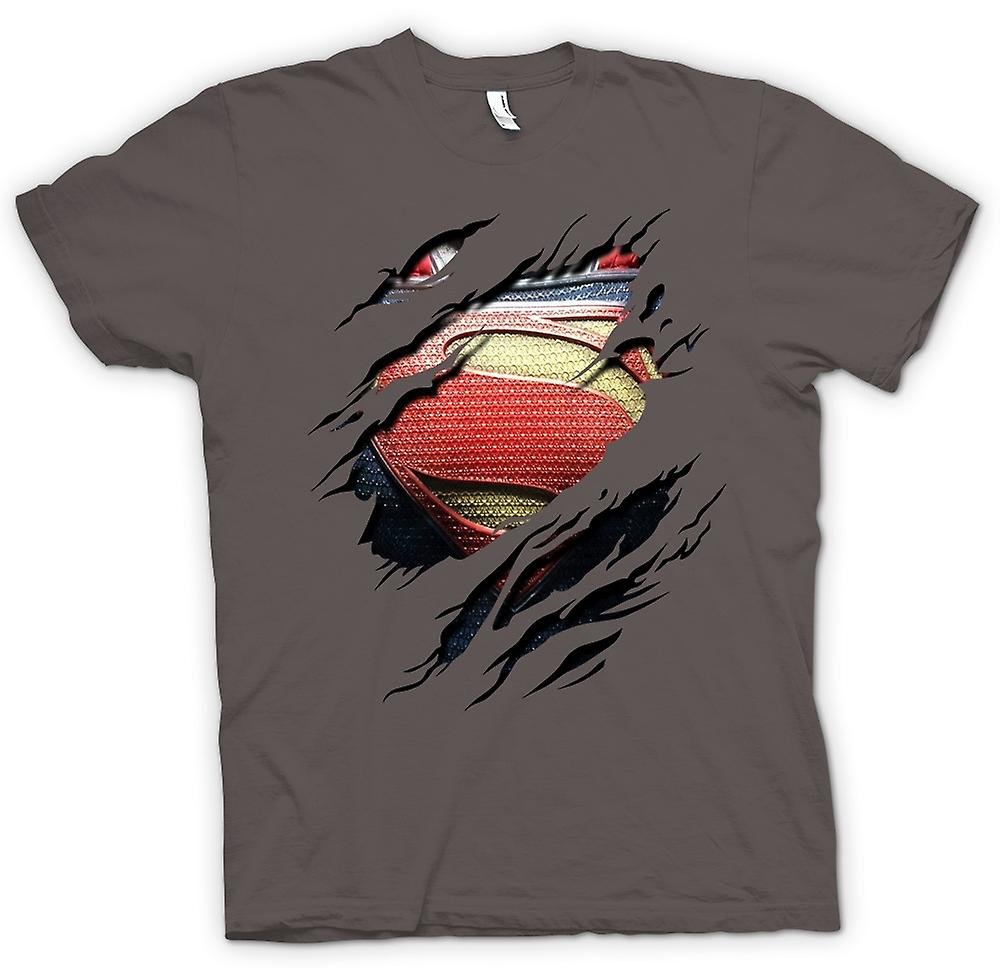 T-shirt - nuovo Super uomo Costume - supereroe strappato Design