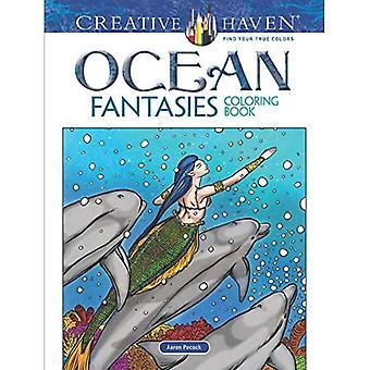 Creative Haven Ocean Fantasies Coloring Book