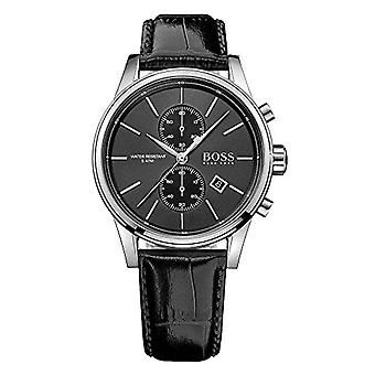 Hugo Boss 1513279-men's watch with quartz movement, chronograph function and leather strap