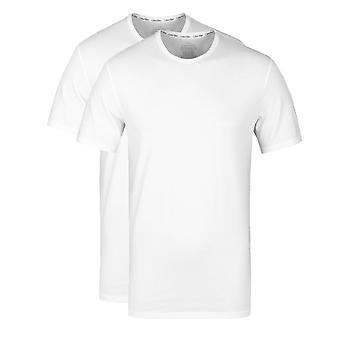 Calvin Klein 2 kpl valkoinen Crew Neck Slim Fit T-paidat